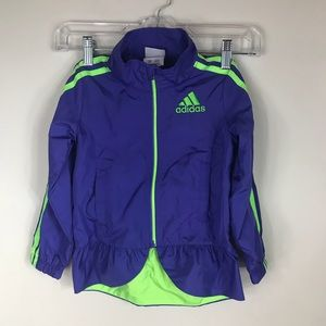 ADIDAS | Girls Peplum Windbreaker Jacket